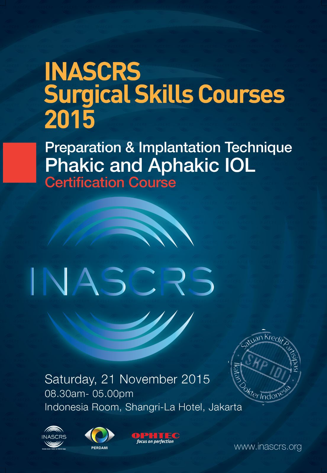 INASCRS Surgical Skills Courses 2015