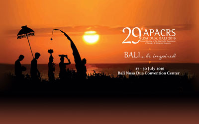 29th APACRS Annual Meeting - BALI - 2016
